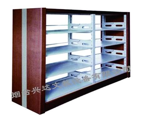 SJ-F6027四层双柱双面钢木书架